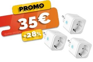 Le lot de 3 prises Connectées Compatibles IFTTT, Domotique et Assistants Vocaux en #PROMO pour seulement 35€ (-28%)