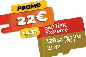 La Micro SD Sandisk Extreme de 128Go en #PROMO pour seulement 22€ (-43%)