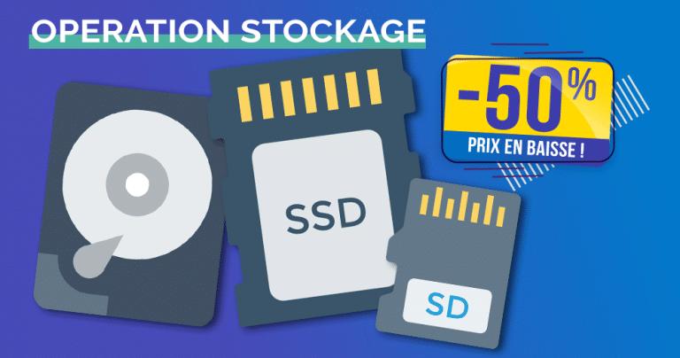 Opération (Dé)Stockage: SD/SSD/HDD affichent des prix en chute libre jusqu'à -50% 🔥
