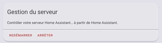 redemarrer-ha-serveur-home-assistant