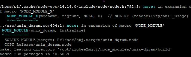 Zigbee2mqtt-installation-node