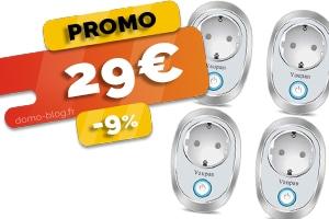 Le lot de 4 prises connectées en #PROMO pour seulement 29€ (-9%)