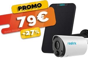 La caméra connectée totalement sans fils Reolink Eco et son panneau solaire en #PROMO pour seulement 79€ (-27%)