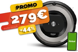 Le robot aspirateur connecté Roomba e5154 en #PROMO pour seulement 279€ (-44%)