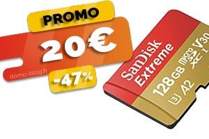La Micro SD de 128Go Sandisk Extreme en #PROMO pour seulement 20€ (-47%)