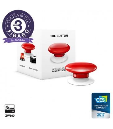 Bouton Contrôleur de scènes Fibaro Button Z-Wave+, rouge