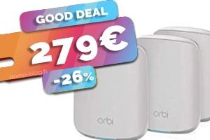 Le kit Orbi wifi 6 en #PROMO pour seulement 279€ (-26%)