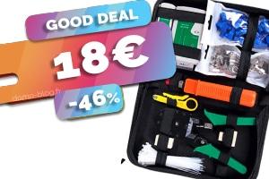 Le kit complet maintenance réseau ou réalisation de cordons RJ45 en #PROMO pour seulement 18€ (-46%)