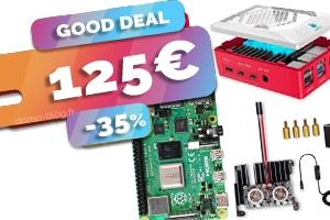 Le kit complet Raspberry Pi 4 8Go en #PROMO pour seulement 125€ (-35%)