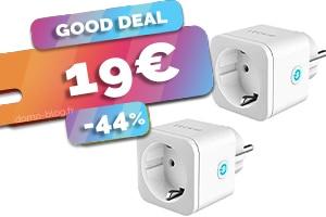 Le lot de 2 prises connectées en wifi et compatibles domotique en #PROMO pour seulement 19€ (-44%)