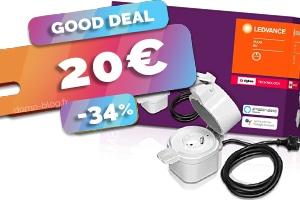 La prise étanche d'exterieur Zigbee compatible domotique et Philips Hue en #PROMO pour seulement 20€ (-34%)