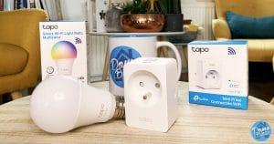 Test de la gamme Tapo de TP-Link avec la prise wifi P100 et l'ampoule connectée L530E