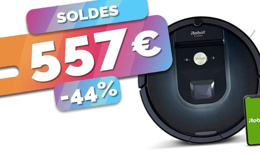 Le robot aspirateur Roomba 981 en SOLDES à seulement 557€ (-44%)🔥