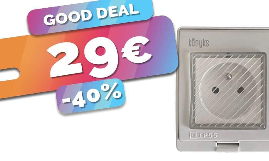 Seulement 29€ la prise connectée étanche pour le jardin compatible domotique (40%)🔥