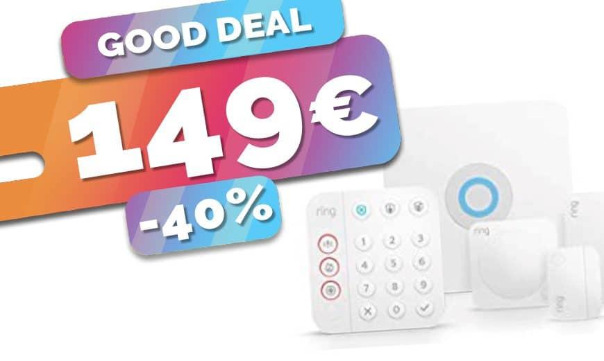 Le kit alarme connectée Ring est en baisse à seulement 149€ (-40%)🔥