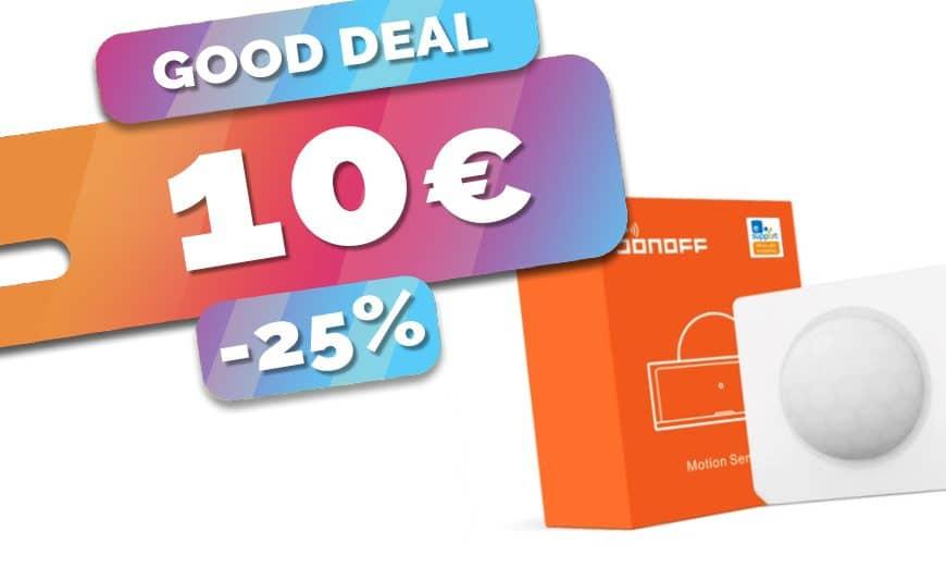 Le détecteur de mouvements Zigbee Sonoff en baisse à seulement 10€ (-25%)🔥