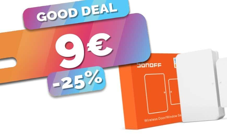 Le détecteur d'ouverture Zigbee Sonoff en baisse à seulement 9€ (-25%)🔥
