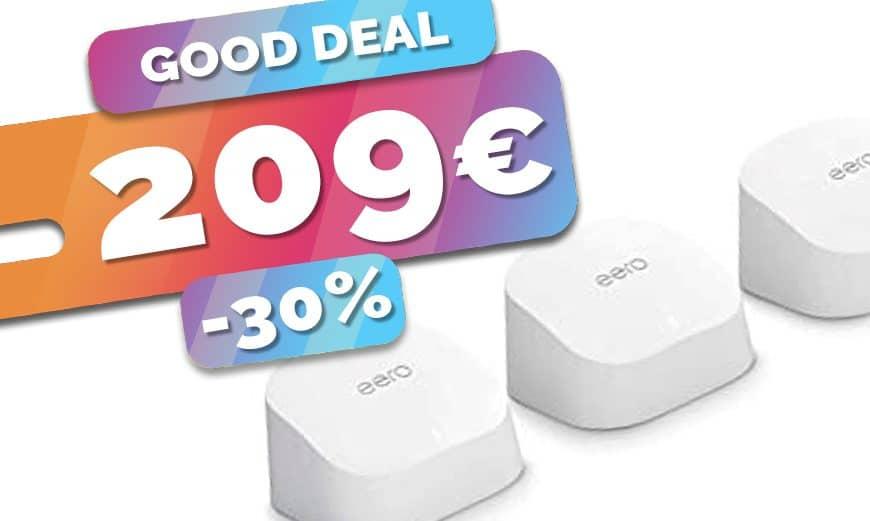 Le kit puissant Wifi 6 eero6 et ses 3 AP est en SOLDES à seulement 209€ (-30%)🔥