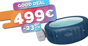Le spa gonflable connecté Bestway lay-Z Milan est en SOLDES au prix de 499€ (-23%)🔥