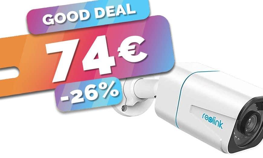 La caméra IP ext PoE 4K Reolink à détection de personne et véhicule est en PROMO à seulement 74€ (-26%)🔥