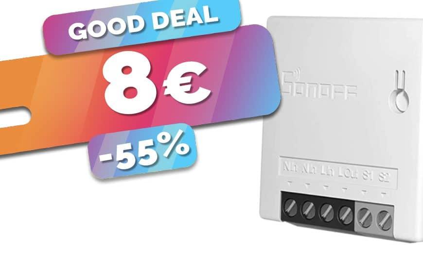 Le micromodule relais wifi Sonoff Mini R2 DIY est en SOLDES au prix de 8€ seulement (-55%)🔥