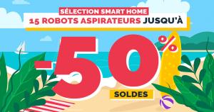 Soldes maison connectée : 10 robots aspirateurs à petits prix jusqu'à -50%