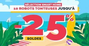 Soldes maison connectée : 10 robots tondeuses à prix réduits