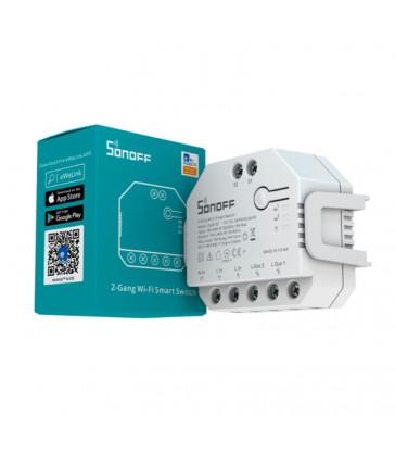 SONOFF - Commutateur intelligent WIFI 2 canaux + mesure consommation - DUALR3