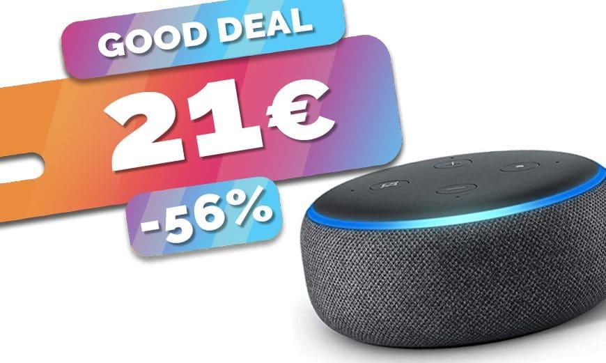Le haut parleur intelligent/assistant Amazon Echo Dot 3 est à seulement 21€ (-56%)🔥