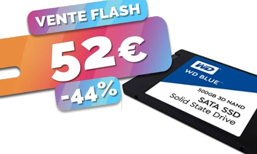 Le disque SSD WD Blue de 500Go est en PROMO à seulement 52€ (-44%)🔥