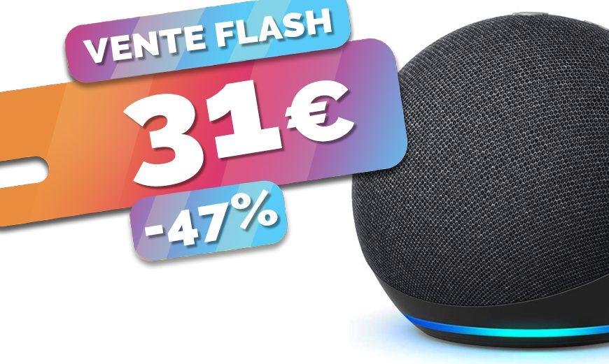 L'assistant Amazon Echo Dot 4 intelligent et HUB Zigbee est à seulement 31€ (-47%)🔥