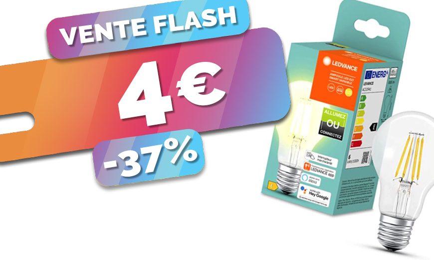 Lancez-vous dans la maison connectée en douceur avec cette ampoule connectée à seulement 4€ (-37%)🔥