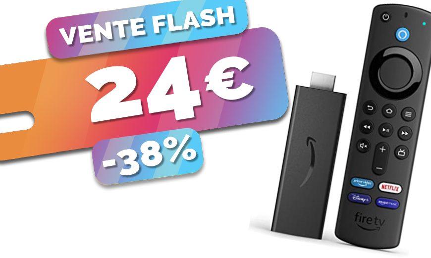 Le petit mais puissant média player Amazon Fire TV Stick est en PROMO à seulement 24€ (-38%)🔥