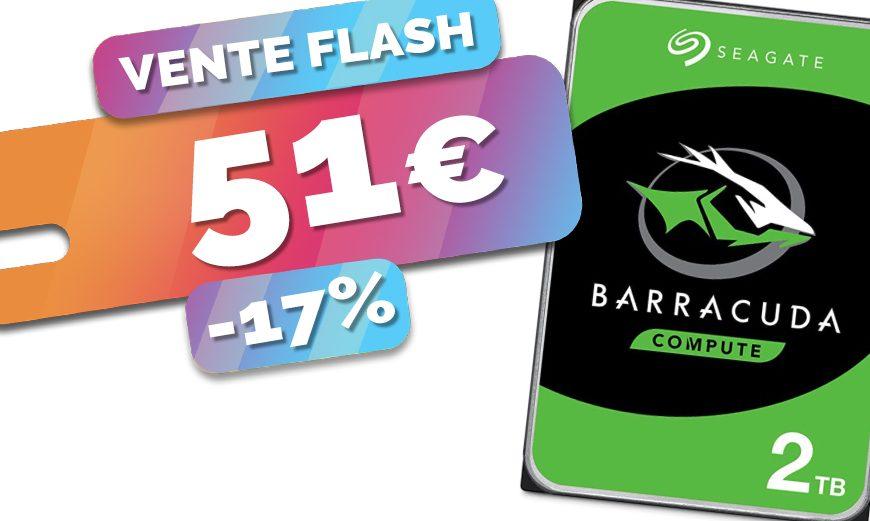 Le disque dur Seagate Barracuda 2To parfait pour NAS bradé au prix de 51€ seulement (-17%)🔥