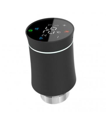 MOES - Tête thermostatique intelligente Zigbee 3.0 - Noir