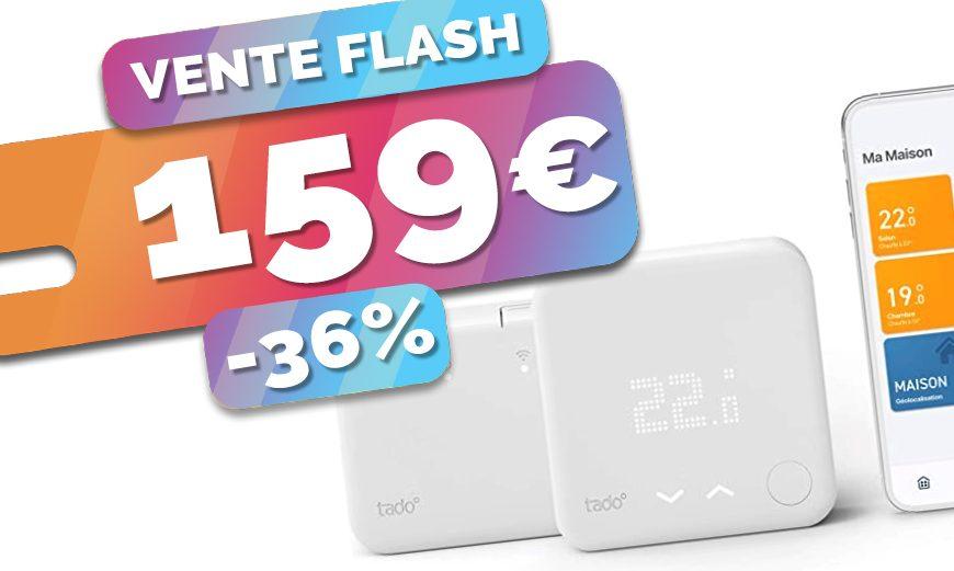 Commencez à économiser avec le thermostat connecté sans fil Tado en VENTE FLASH à seulement 169€ (-36%)🔥